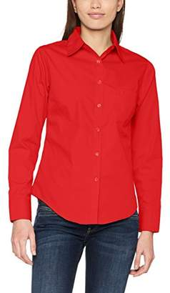 Fruit of the Loom Women's Poplin LS Lady-Fit Shirt,M