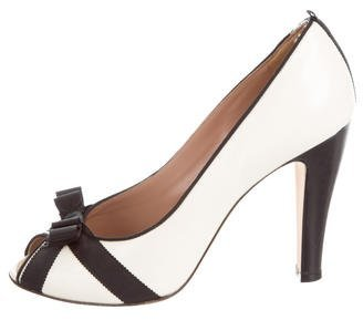 Marc by Marc Jacobs Peep-Toe Leather Pumps