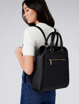 Forever New Bianca Quilted Laptop Backpack - Black. - 00