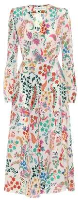 Etro Flora printed silk midi dress