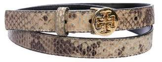 Tory Burch Embossed Peg-In-Hole Belt