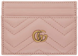 23271a193a24 Gucci Pink GG Marmont 2.0 Card Holder