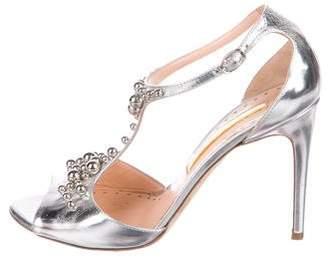 Rupert Sanderson Metallic Embellished Sandals