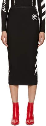 Off-White Black Diag Pencil Skirt