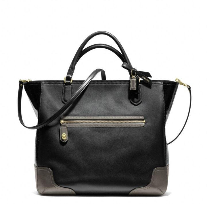 Coach Poppy Colorblock Leather Blaire Tote