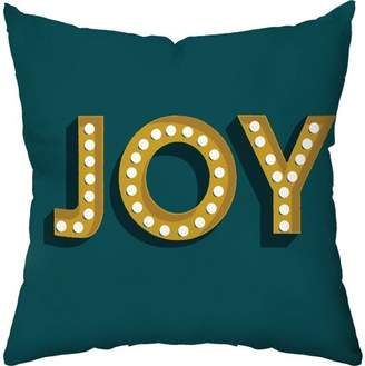 Checkerboard Lifestyle Joy Marquee Holiday Throw Pillow