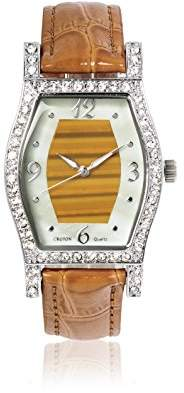 Croton Women's Quartz Brass and Leather Dress Watch