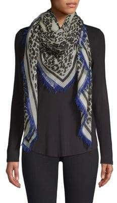 Givenchy Foulard Cashmere Leopard Scarf