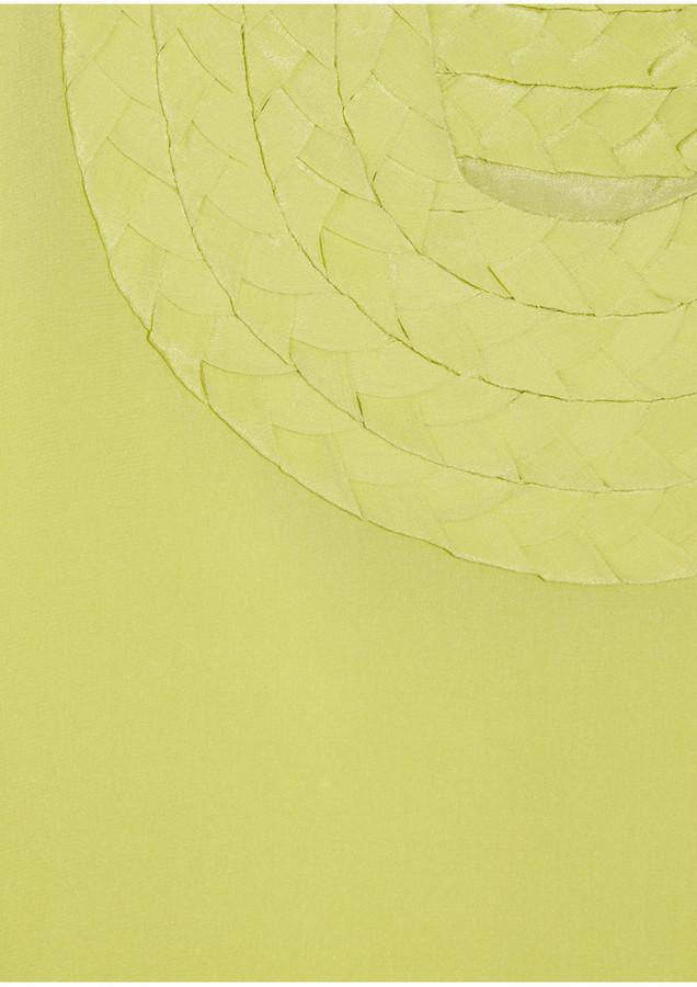 Mara Hoffman Braid-trimmed silk top