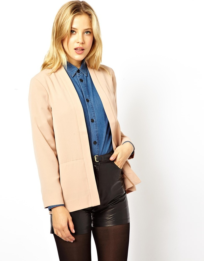 Asos Blazer In Relaxed Fit - Black