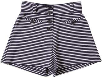 Emporio Armani Striped Viscose Jersey Shorts