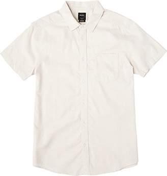 RVCA Men's Dips Short Sleeve Woven Button Down Shirt