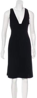 Armani Collezioni Velvet Knee-Length Dress