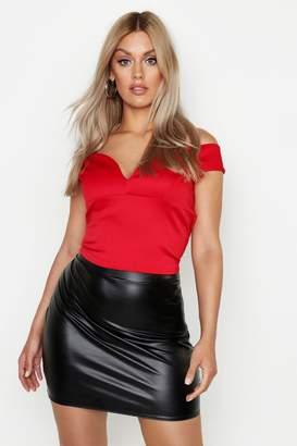2a1392da8b713 boohoo Red Off Shoulder Tops For Women - ShopStyle UK