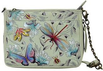 Anuschka Floral Compact Leather Crossbody Bag