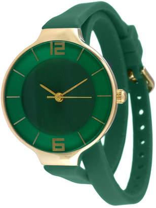 JCPenney TKO ORLOGI Womens Green Silicone Strap Wrap Watch
