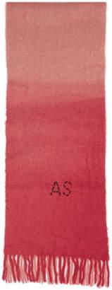 Acne Studios Pink Kelow Dye Scarf