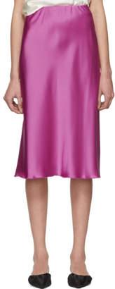 Nanushka Pink Satin Zarina Skirt