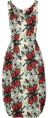 Nina Ricci Floral-print Silk-blend Cloque Dress