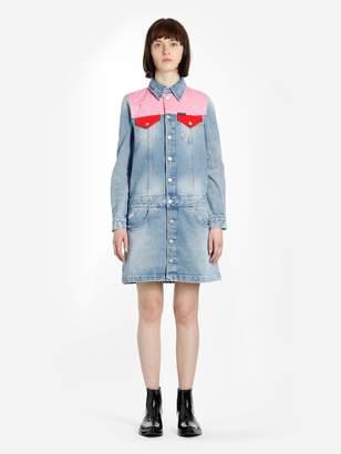 171f0008011 Calvin Klein JEANS LIGHT BLUE WESTERN TRUCKER DENIM DRESS
