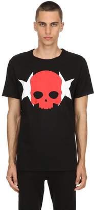 Hydrogen Skull & Stars Cotton Jersey T-Shirt