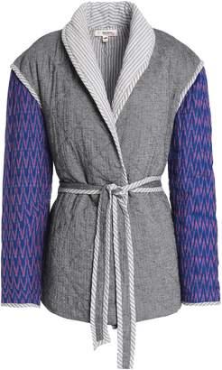 Lemlem Herringbone-paneled Printed Quilted Cotton-blend Jacket