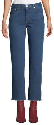 Elizabeth and James Holden Contrast-Back Straight-Leg Jeans