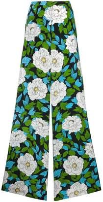 Diane von Furstenberg floral printed palazzo trousers
