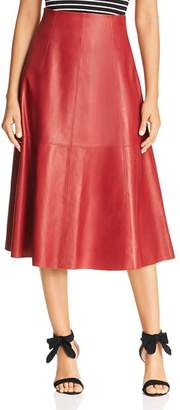 Kate Spade Leather Midi Skirt