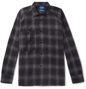 Beams Checked Brushed-Cotton Overshirt