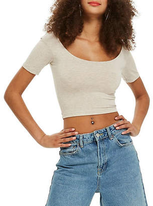 Topshop Jersey Crop Top