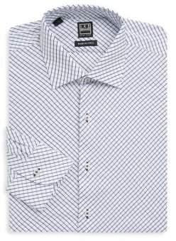 Ike Behar Grid Button-Front Shirt