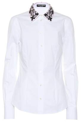 Dolce & Gabbana Embellished poplin shirt