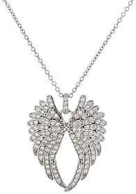 Diamonique Angel Wing Pendant w/ ChainSterling