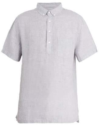 Onia - Josh Short Sleeved Linen Polo Shirt - Mens - Grey