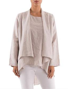 Ping Pong 7/8 Drape Sleeve Front Jacket