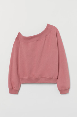 H&M One-shoulder Top - Pink
