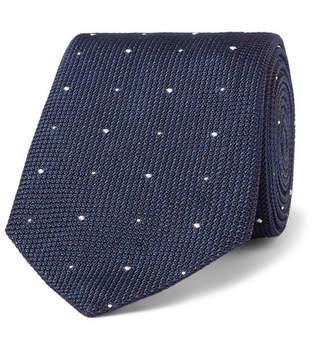 Richard James 8.5cm Polka-Dot Silk-Grenadine Tie