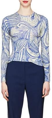 Dries Van Noten Women's Sketch-Print Jersey Long-Sleeve T-Shirt