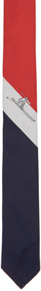 Thom Browne Red Classic Scenic Skier Tie $220 thestylecure.com