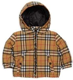 Burberry Baby Boy's& Little Boy's Rio Signature Check Puffer Jacket