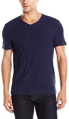 Kenneth Cole Reaction Men's Short Sleeve Slub V-Neck Shirt