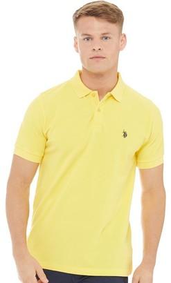 U.S. Polo Assn. Mens King Polo Primrose Yellow