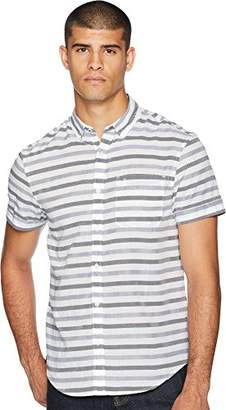 Original Penguin Men's Short Sleeve Textured Striped Shirt
