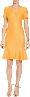 St. John Caris Knit V-Neck Dress