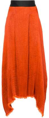 Maticevski textured asymmetric skirt