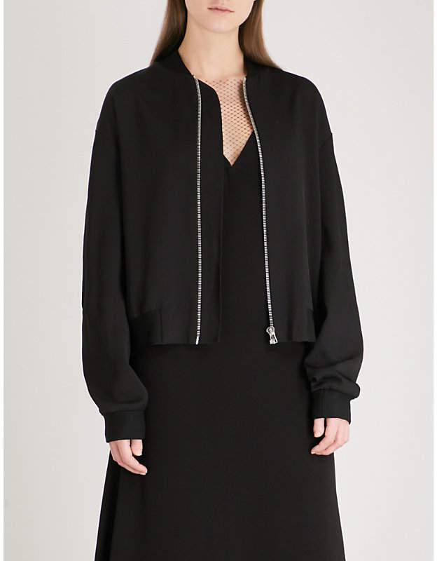Soft twill bomber jacket