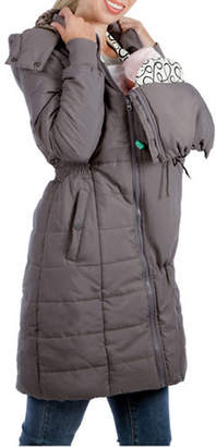 MODERN ETERNITY Maternity Madison 3-in-1 Faux Fur-Accented Quilted Puffer Coat