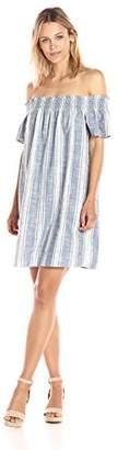 Lucky Brand Women's Tencel Off Shoulder Dress