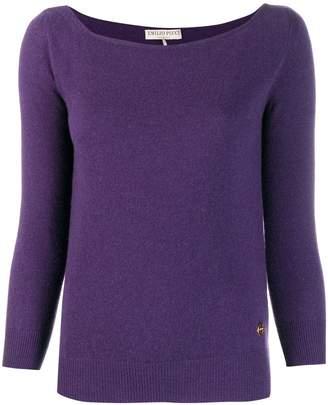 Emilio Pucci boat neck sweater